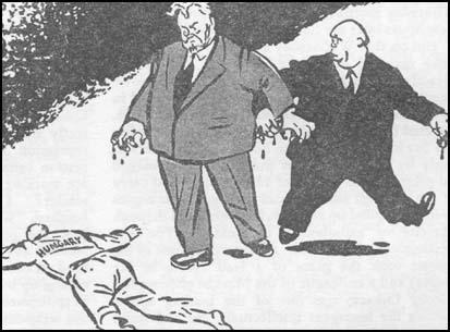 Pontos karikatúra: hazánkat cserben hagyták